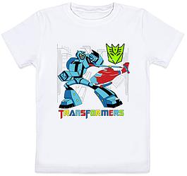 """Детская футболка """"Transformers"""" (белая)"""