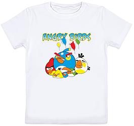 """Детская футболка """"Angry Birds"""" (белая)"""