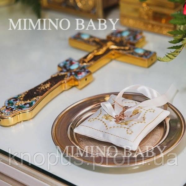 Подушечка под крестильный крестик с вышивкой, Miminobaby