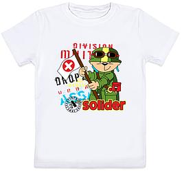 """Детская футболка """"Solider"""" (белая)"""