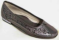 Женские кожаные туфли-балетки большого размера 36-44р