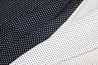 Горох мелкий на белом.Рубашечная ткань хлопок стрейч .(эластан 5%) слабый стрейч!, фото 1