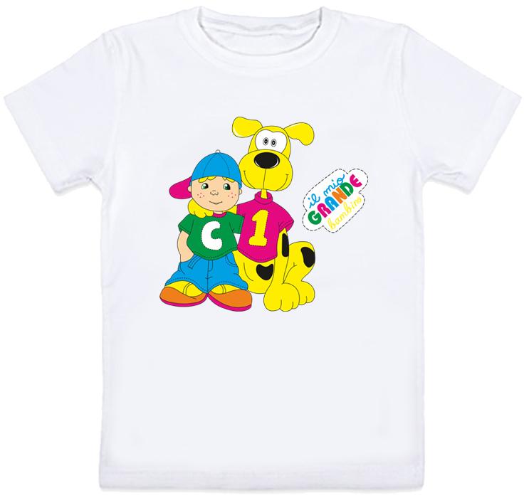 "Дитяча футболка ""Il mio grande bambino"" (біла)"