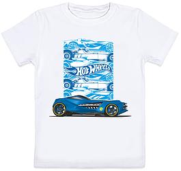 """Детская футболка """"Hotwheels"""" (белая)"""