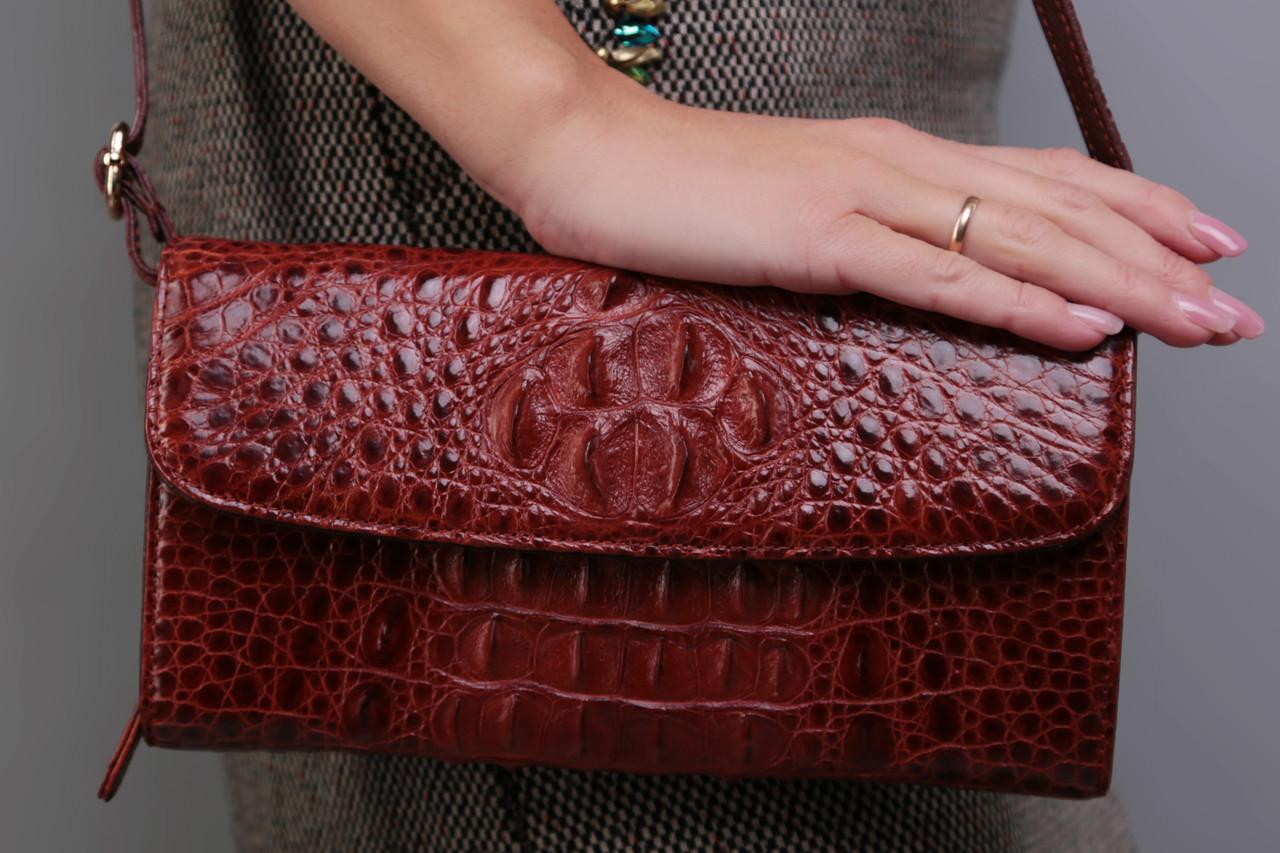 faa6058a6404 Сумка женская из натуральной кожи крокодила, цена 8 064 грн., купить ...