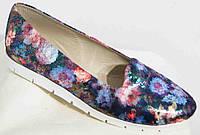 Женские кожаные цветные туфли-балетки большого размера 36-44р