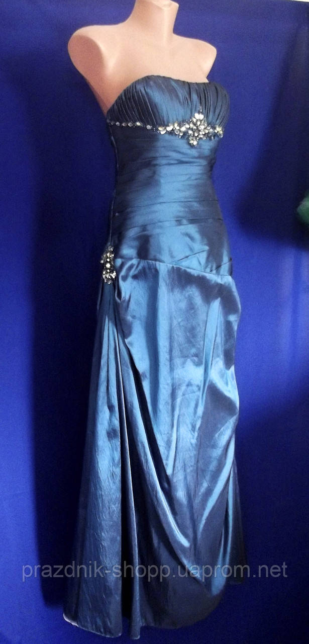 Платье вечернее, бирюзовое (после проката)