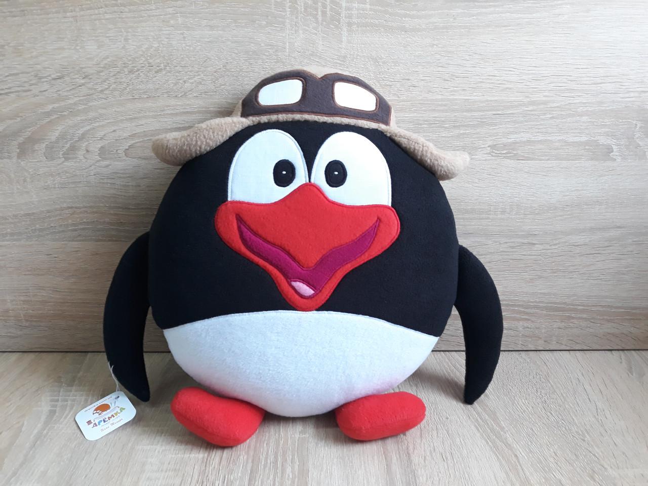 Мягкая игрушка - подушка Смешарик пингвин Пин ручная работа