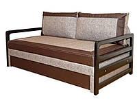 Диван-кровать Валенсия 160 с деревянными подлокотниками