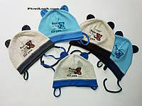 Детская трикотажная шапка на мальчика(до года)