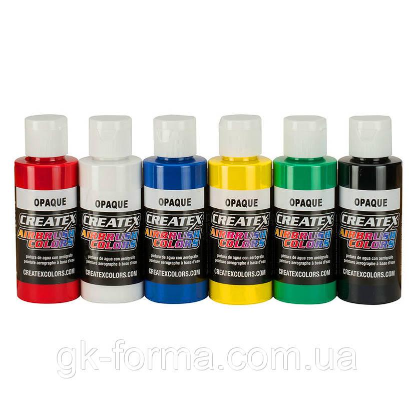 Набор красок для аэрографии Createx Airbrush Colors - Opaque Set (непрозрачные цвета)