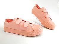 31-36 рр Персиковые Детские кеды конверсы AIL STAR в стиле Converse розовые пудровые кораловые