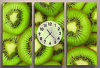 Картина модульная для кухни часы Киви 90х60