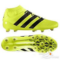 Бутсы Adidas Ace 16.1 Primeknit FG Yellow/Black