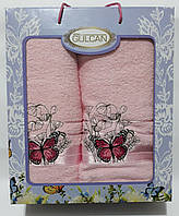 Набор полотенца махровые Gulcan 2шт (50*90см -1шт, 70*140см - 1шт.) в подарочной упаковке Турция