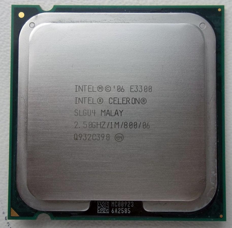 Процессор Intel Celeron Dual-Core E3300 2.50GHz/1M/800 (SLGU4) s775, tray
