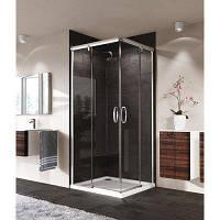 Квадратна душова кабіна 120/80 см, HUPPE Aura elegance, двері розсувні 401307