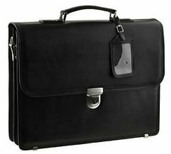 Портфель кожаный Blamont Bn038A, мужской, черный