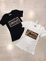 Річна жіноча турецька футболка з написом р. 42-48, FL 1045