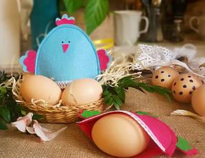 Пасхальные курочки для яиц голубой