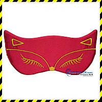 Маска для сна Silenta Cat (креп-сатин), red , фото 1