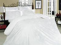 Постельное белье Altinbasak сатин люкс Sehrazad beyaz 160x220-2 шт семейное