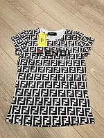 Красива жіноча турецька футболка з буквами р. 42-48, FL 1054
