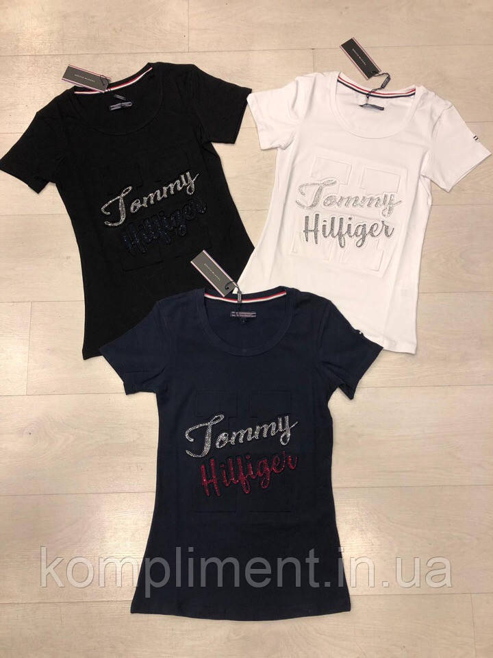 Легка жіноча турецька футболка з написом, FL 1057
