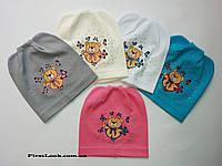Детская трикотажная шапка на девочку (2-3 года)