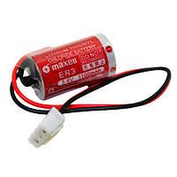 Батарейка литиевая Maxell ER3 3.6V с коннектором