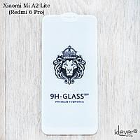 Защитное стекло 2,5D 2,5D Full Glue для Xiaomi Mi A2 Lite (Redmi 6 Pro) (white) (клеится всей поверхностью)