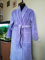 Турецкий банный женский халат, сиреневый