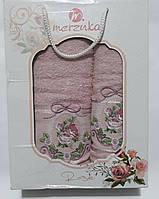 Набор полотенца махровые Merzuka 2шт (50*90см -1шт, 70*140см - 1шт.) в подарочной упаковке Турция
