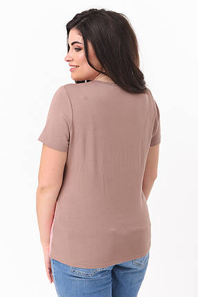 Блуза в пастельних тонах з принтом Великі розміри 50-58, фото 2