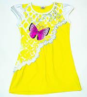 """Яркая футболка """"Бабочка""""  для девочки  рост 116-140 см, фото 1"""
