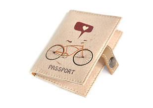 Обложка на ID паспорт пластиковый Велосипед