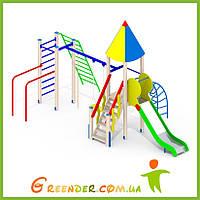 Деревянные детские игровые площадки уличные I99