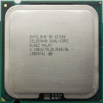 Процессор Intel Celeron Dual-Core E1500 2.20GHz/512K/800 (SLAQZ) s775, tray