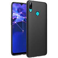 Чехол для Huawei P Smart Plus силиконовый бампер черный