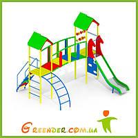 Детские игровые спортивные комплексы из дерева на улицу KB92