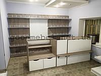 Металлические и комбинированные стеллажи для магазина. ТО-131