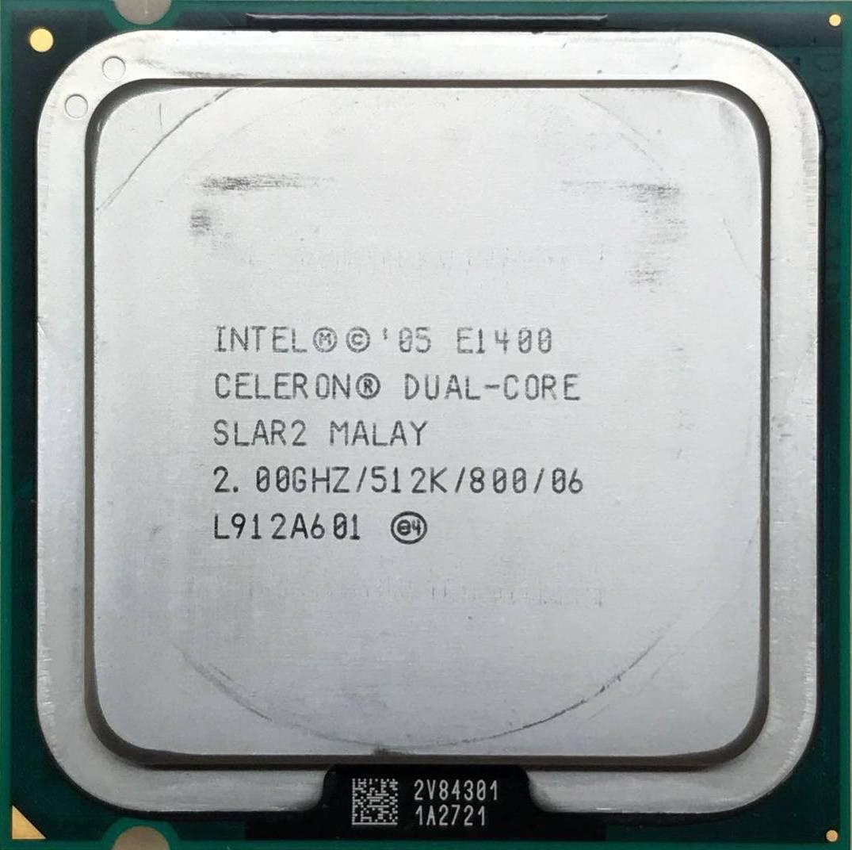 Процессор Intel Celeron Dual-Core E1400 2.00GHz/512K/800 (SLAR2) s775, tray