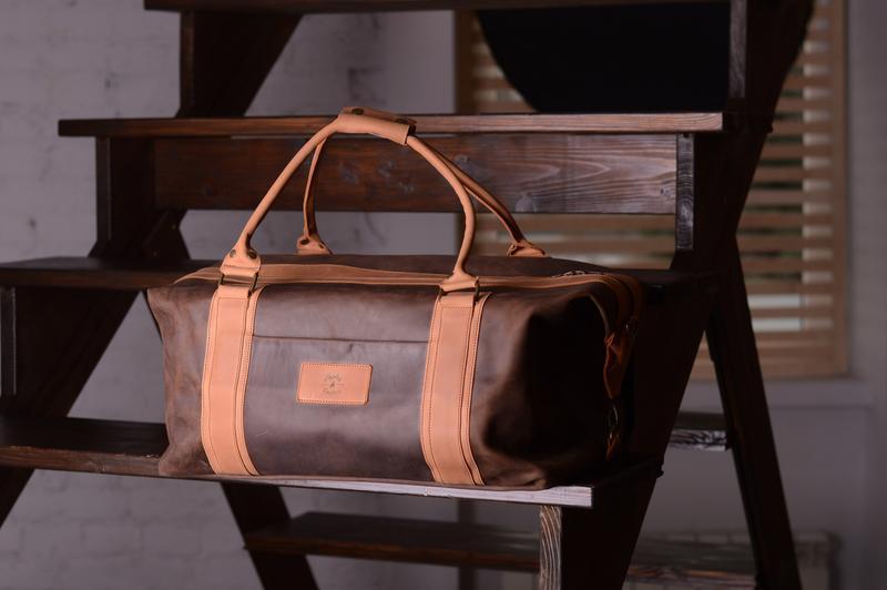 Дорожная сумка из натуральной кожи, фото 1
