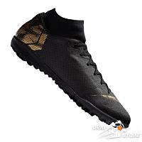 Сороконожки Nike Mercurial Superfly VI Academy TF Black/Gold