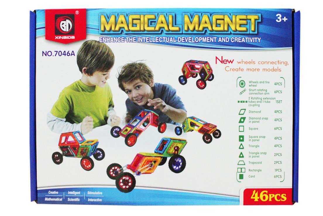 Магнитный конструктор Magical Magnet Автотехника 46 деталей 7046A