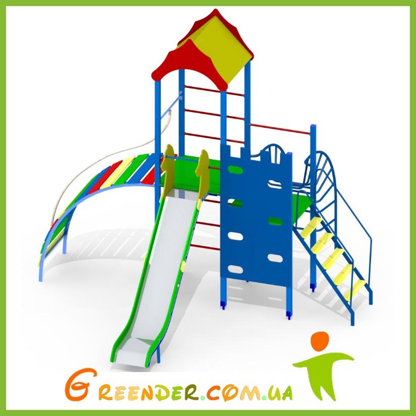 Игровой коплекс для спорта детская площадка деревянная Q21
