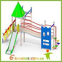 Деревянные уличные площадки для детей уличные L104