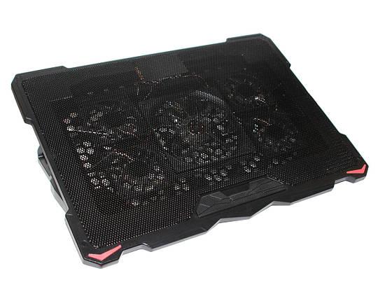 """Подставка для ноутбука до 17"""" Cool Pad S-035, Black с подсветкой, фото 2"""