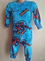 Пижама махра с Человеком Пауком  на рост 74-80, фото 1