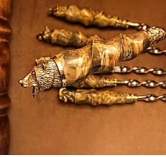 """Шампура ручной работы """"Подарок охотнику"""" в кожаном колчане, 6шт, фото 2"""